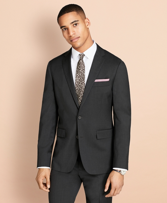 Wool Twill Suit Jacket Grey