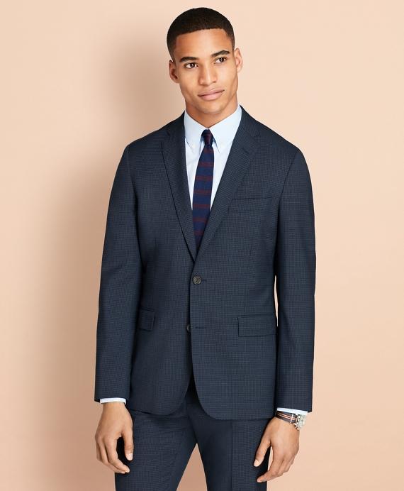 Parquet Wool Suit Jacket Navy