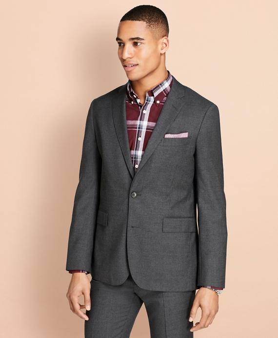 Wool Flannel Suit Jacket Grey