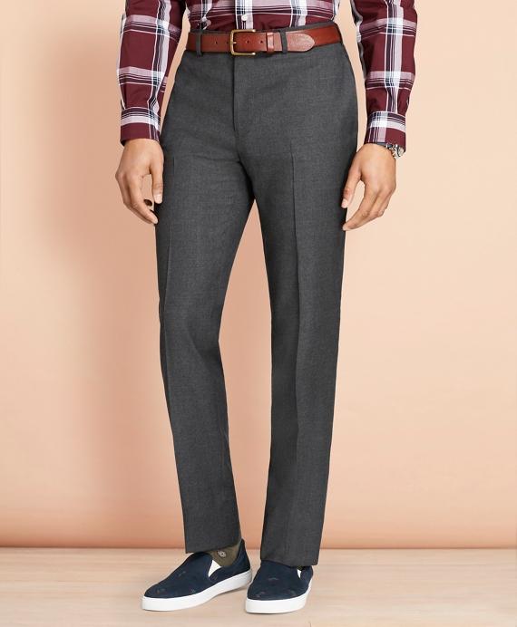 Wool Flannel Trousers Grey