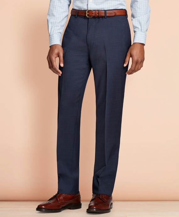 Pin-Dot Wool Suit Trousers Navy
