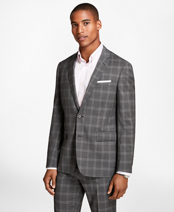 Plaid Wool Suit Jacket