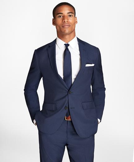 Pinstripe Wool Suit Jacket