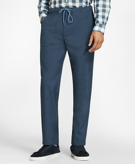Wool Drawstring Suit Trousers