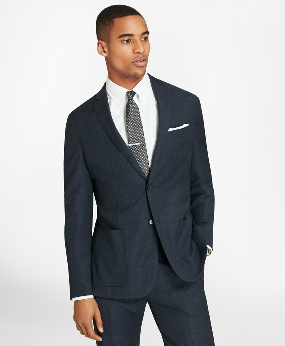 BrooksCloud™ Two-Button Wool Suit Jacket Blue