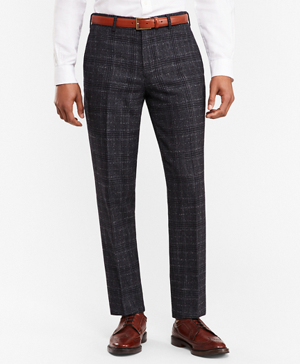 Plaid Twill Suit Trousers