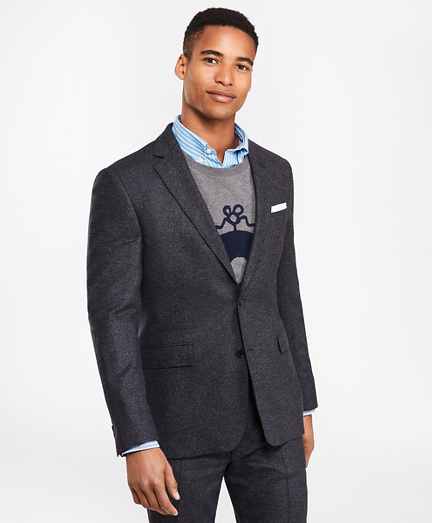 Two-Button Tic Twill Suit Jacket