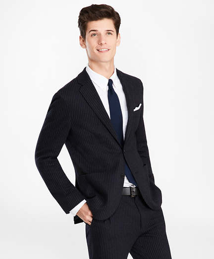 Pinstripe Two-Button Suit