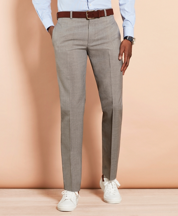 Wool Suit Trousers Grey