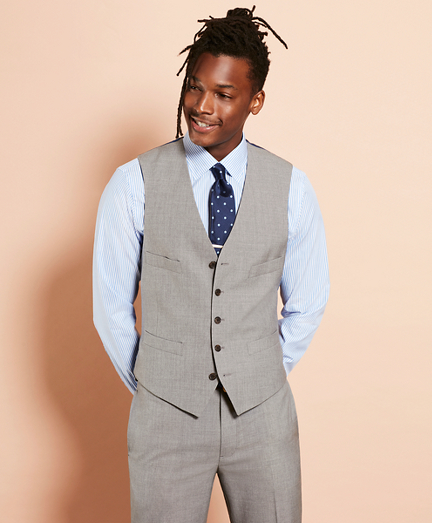 Wool Five-Button Suit Vest