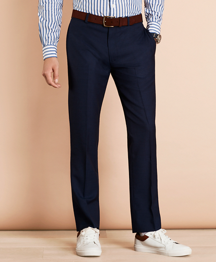 Wool Bird's-Eye Suit Trousers