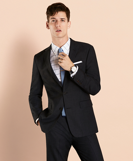 Wool-Blend Twill Suit Jacket