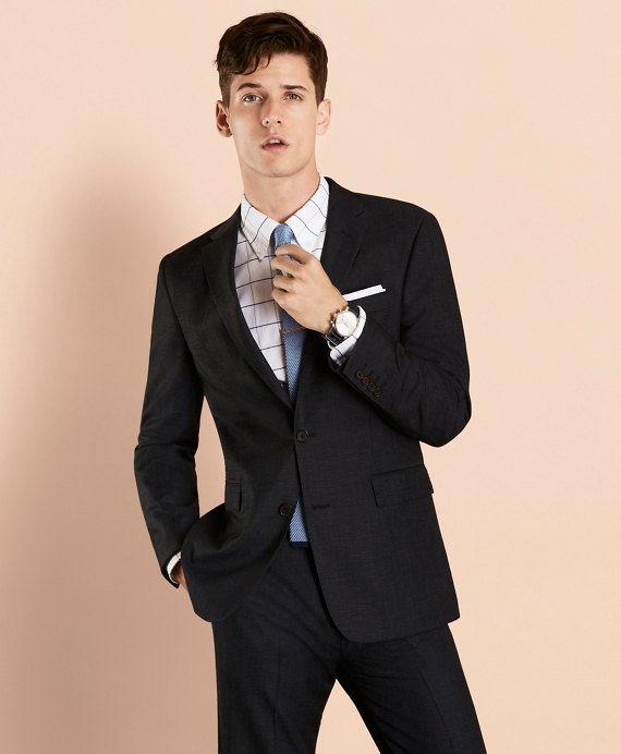 Wool-Blend Twill Suit Jacket Indigo