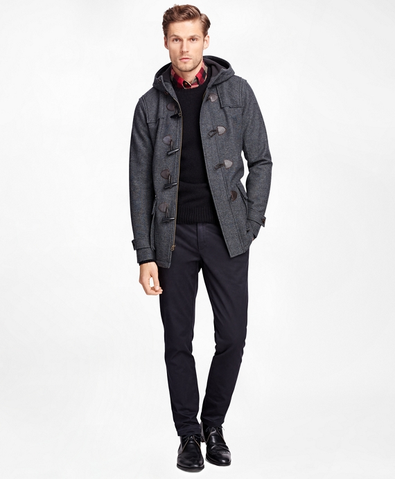 Men's Charcoal Duffle Jacket | Brooks Brothers
