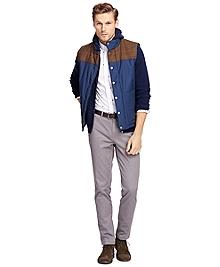 Vest with Tweed Yoke