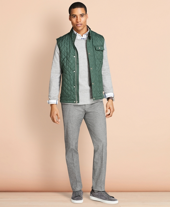 Diamond-Quilted Vest Pine Green