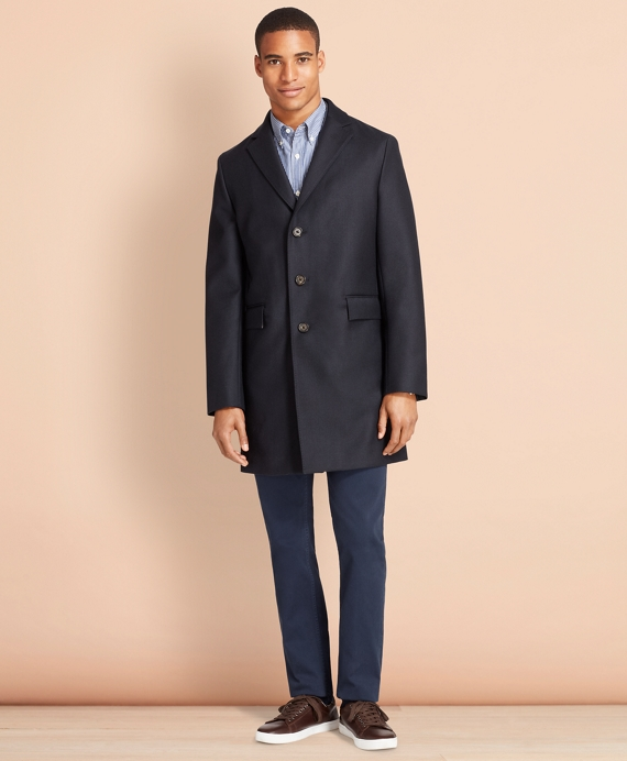 Double-Faced Wool Topcoat Navy-Green