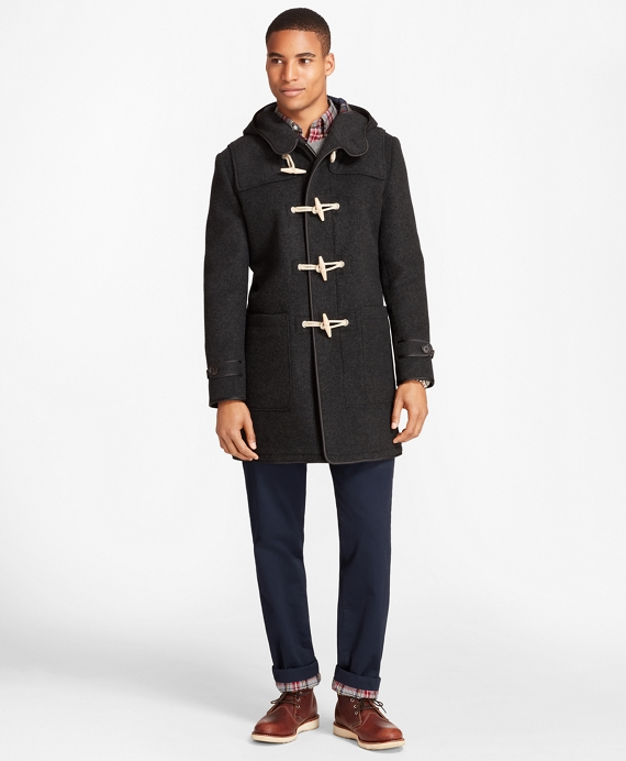 Double-Faced Wool Duffle Coat Charcoal