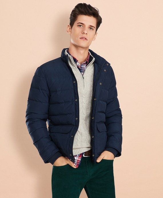 Down Puffer Coat Navy