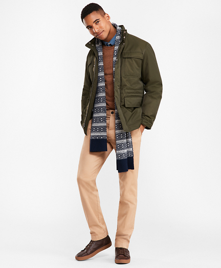 Water-Repellent Twill Field Coat