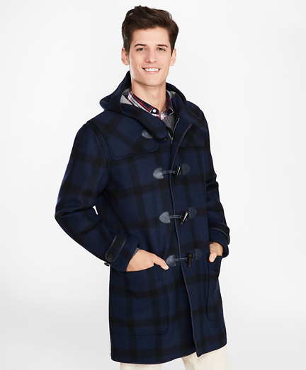 68668386e99 Double-Faced Wool-Blend Plaid Duffle Coat. remembertooltipbutton