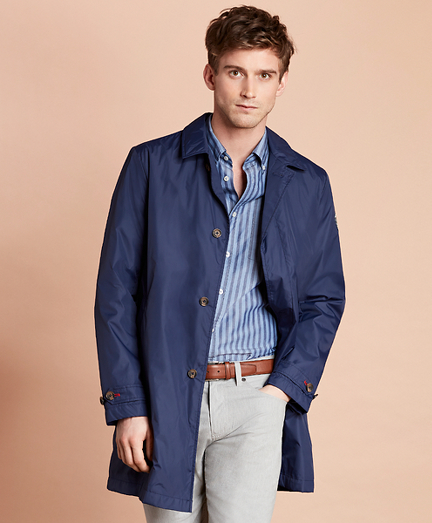 Water-Repellent Packable Trench Coat