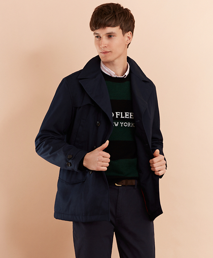 Lightweight Cotton Twill Peacoat