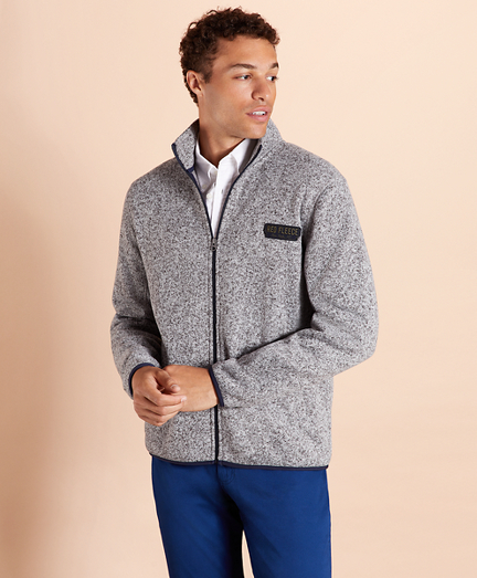 Zip-Up Fleece Sweater Jacket
