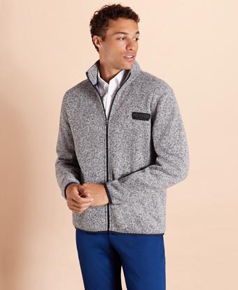 Zip-Up Fleece Sweater Jacket