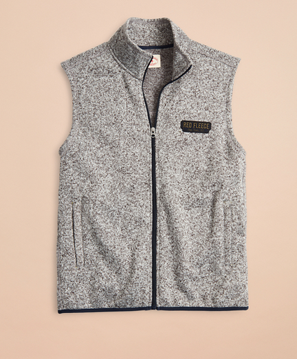 Zip-Up Fleece Sweater Vest