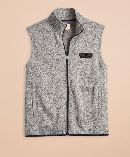 Zip-Up Fleece Sweater Vest