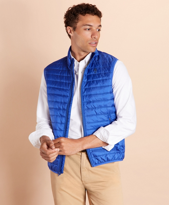 Water-Resistant Puffer Vest Blue
