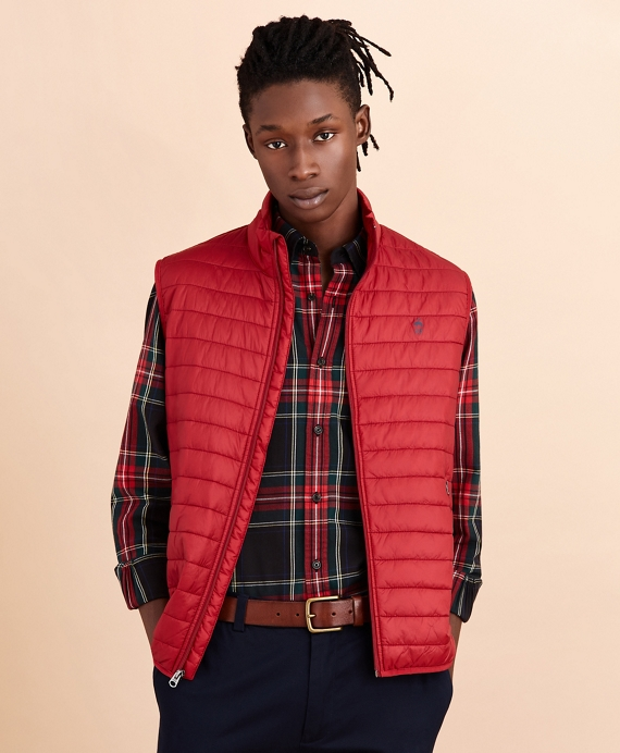 Water-Resistant Puffer Vest Red