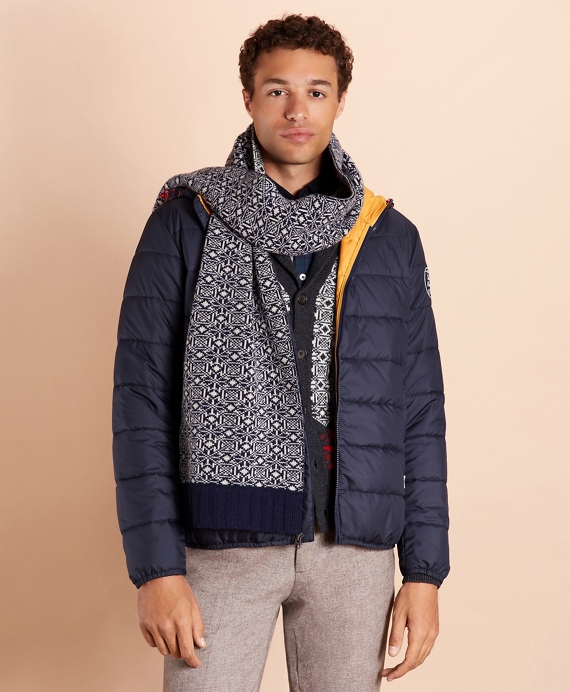 Quilted Hooded Puffer Jacket Navy
