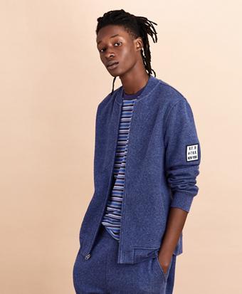 Fleece Bomber Sweater