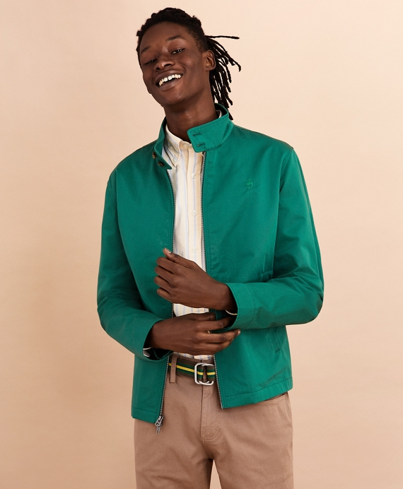 Cotton Bomber Jacket Green