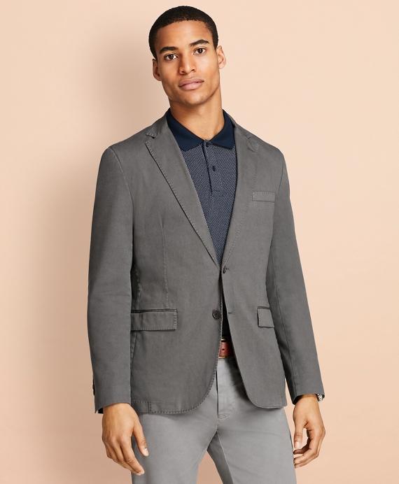 Garment-Dyed Stretch Cotton Dobby Sport Coat Grey