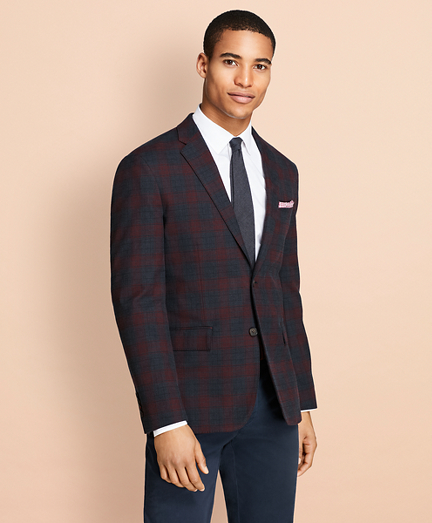 Plaid Stretch-Cotton Sport Coat