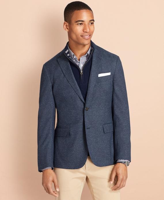 Wool-Silk Sport Coat Navy