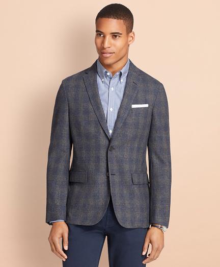 Plaid Wool-Cashmere Sport Coat
