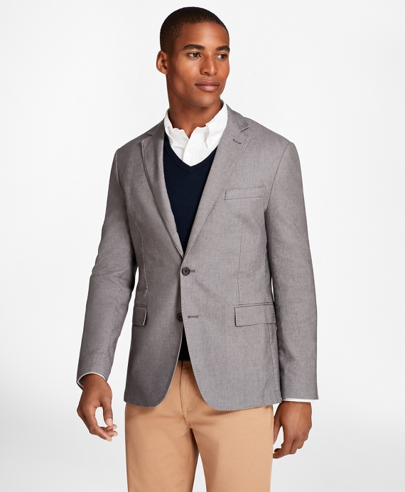 Heathered Stretch Cotton Twill Sport Coat Grey