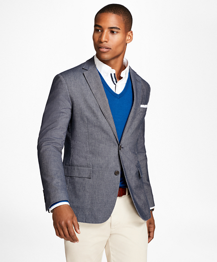 Heathered Stretch Cotton Twill Sport Coat