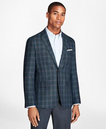 Windowpane Wool Linen Twill Sport Coat