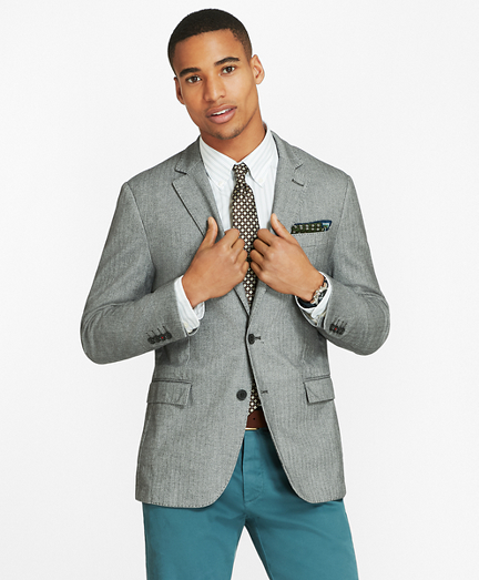 Herringbone Two-Button Sport Coat