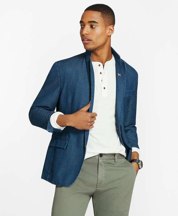 Chambray Two-Button Sport Coat Chambray