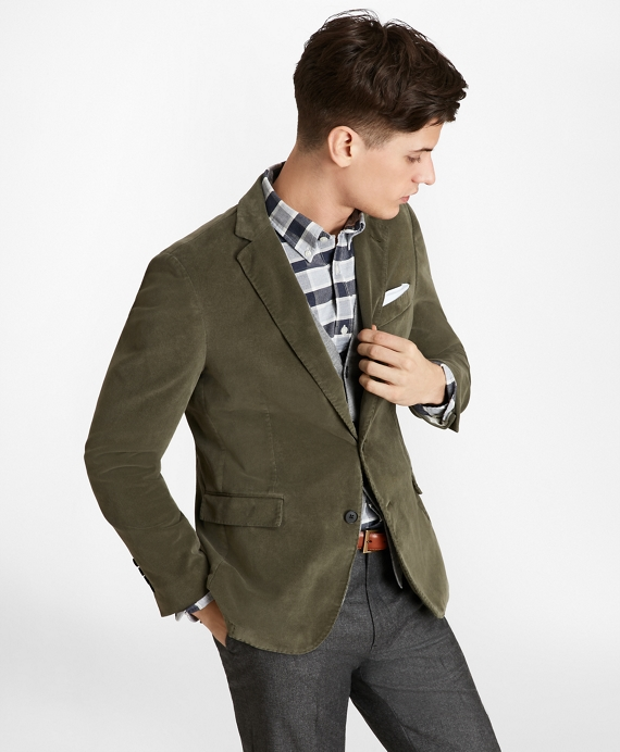 Two-Button Corduroy Sport Coat Ivy Green