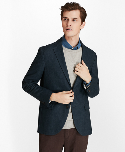 Two-Button Wool-Blend Herringbone Sport Coat