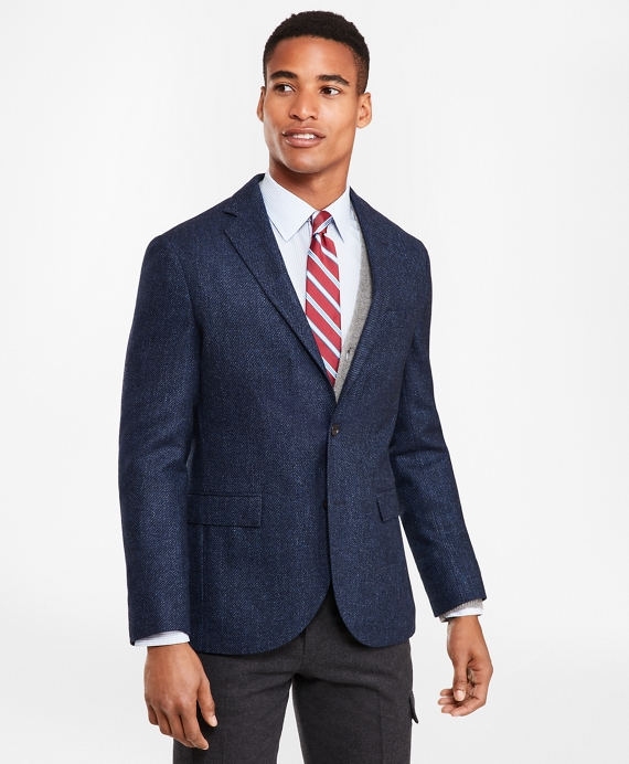 Two-Button Wool-Blend Twill Sport Coat Navy