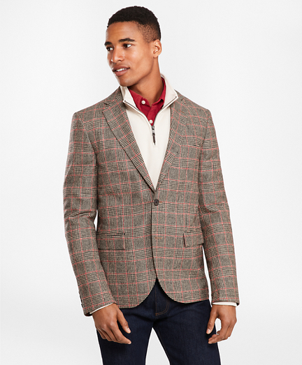 Two-Button Lambswool Tweed Sport Coat