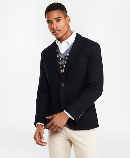Two-Button Wool-Blend Jersey Blazer